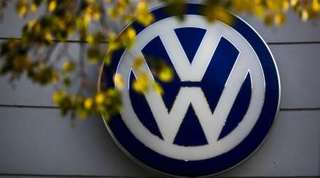 The VW sign of Germany's car company Volkswagen