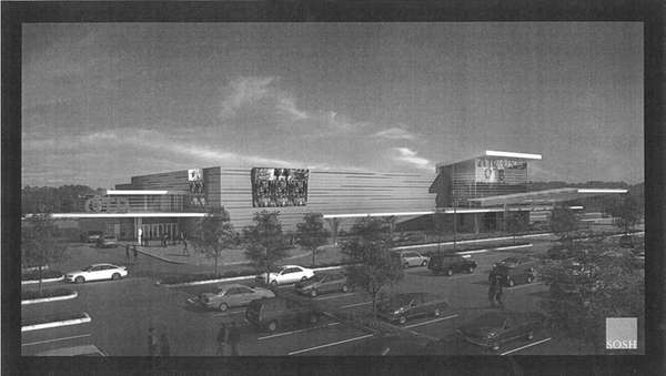 Artist's rendering of casino that Suffolk County OTB
