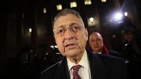 Former New York Assembly Speaker Sheldon Silver leaves