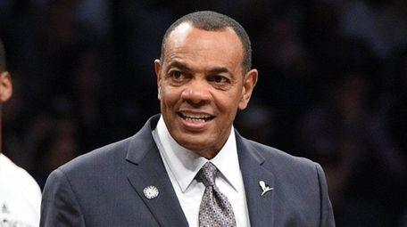 Brooklyn Nets head coach Lionel Hollins looks on