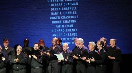Members of the New York Gay Men's Chorus