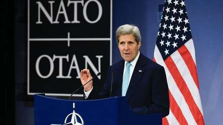 Secretary of State John Kerry speaks during a