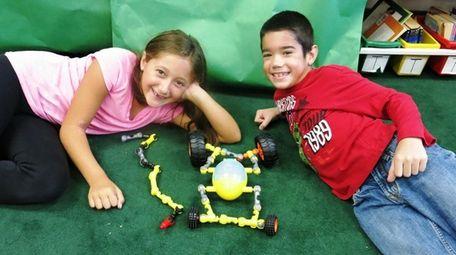 Kidsday reporters Ella Munoz, left, and Michael Cecere