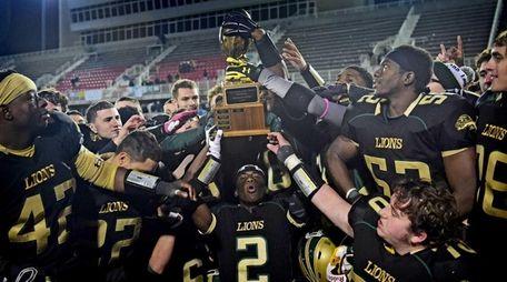 Longwood Lions celebrate their Long Island Class I