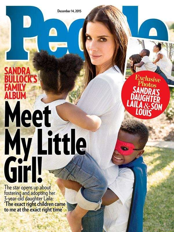 Sandra Bullock has two adopted children: Laila, 3,