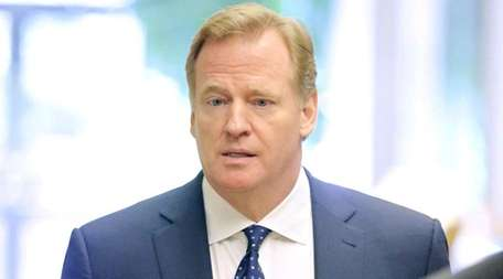 NFL Commissioner Roger Goodell arrives for an