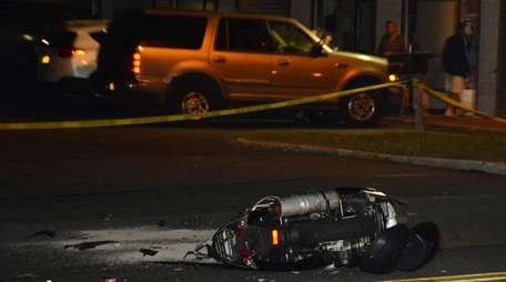 A motorcyclist was struck at Portion Rd between