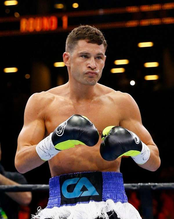 Chris Algieri comes out of his corner to