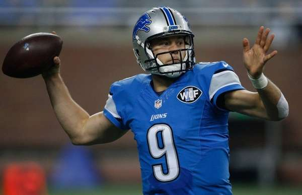 Matthew Stafford of the Detroit Lions throws a