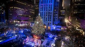 The lighting of the Rockefeller Center Christmas tree