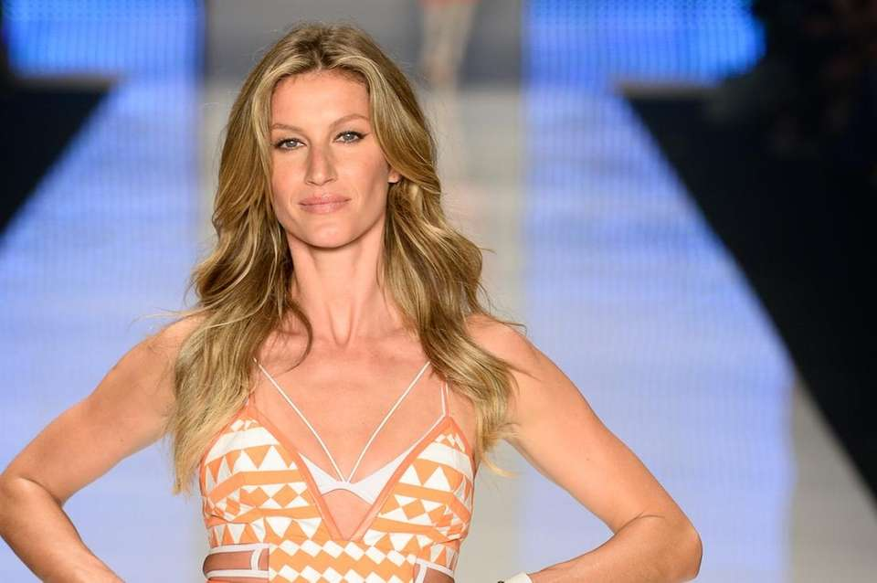 Model Gisele Bundchen has two little ones with