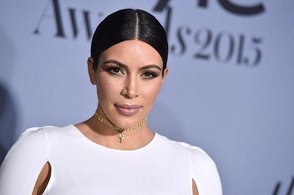 Reality TV star Kim Kardashian and husband, rapper