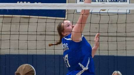 Kellenberg's Victoria Moulder during the CHSAA girls volleyball