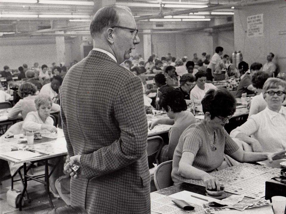 Alfred Schupp, a Bingo inspector for the Town