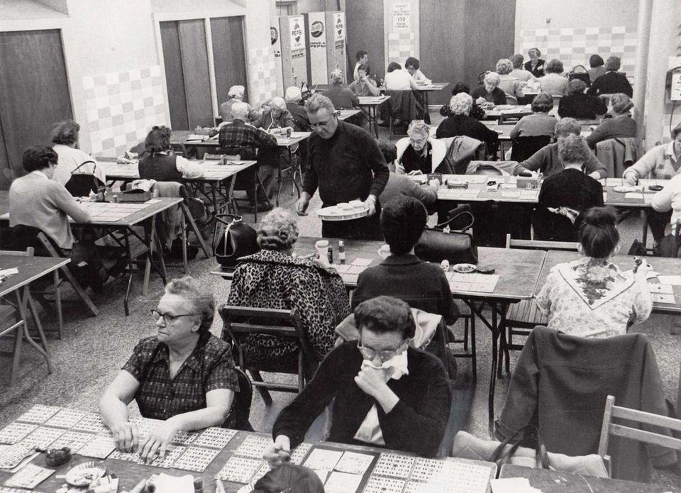 A bingo game in progress at the Empire