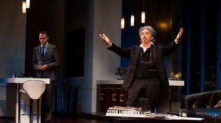 Christopher Denham and Al Pacino in a scene