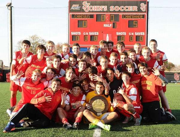 Chaminade celebrated its CHSAA state soccer championship after