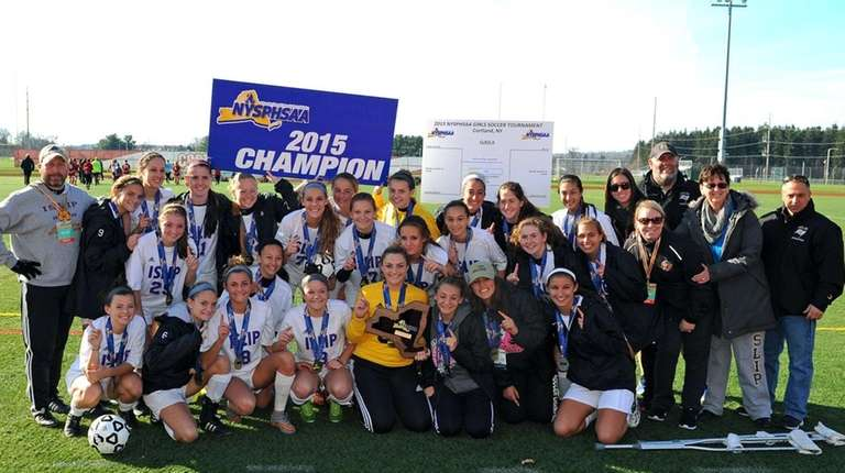 Islip won the first girls state soccer championship