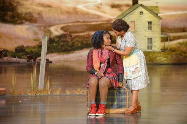 Shanice Williams as Dorothy, left, and Stephanie Mills