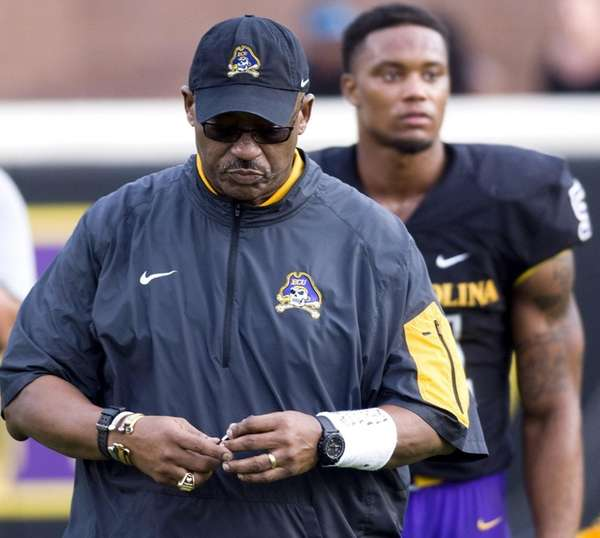 East Carolina head coach Ruffin McNeill ends the