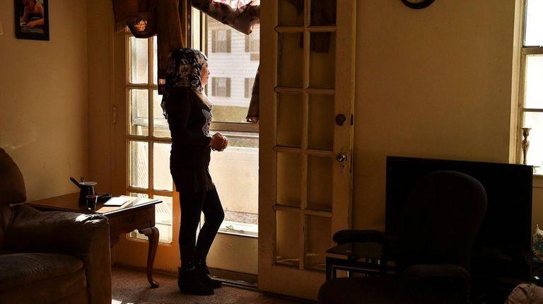 Linda J., a Syrian refugee, at her Baltimore