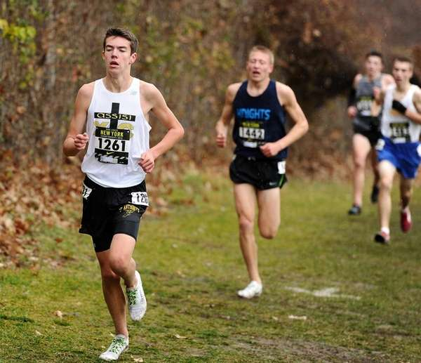 St. Anthony's Ryan Dearie during the regional race