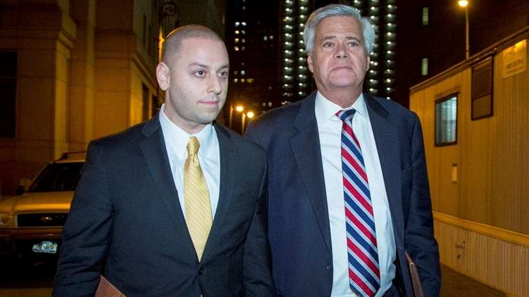 State Sen. Dean Skelos, right, and his son,