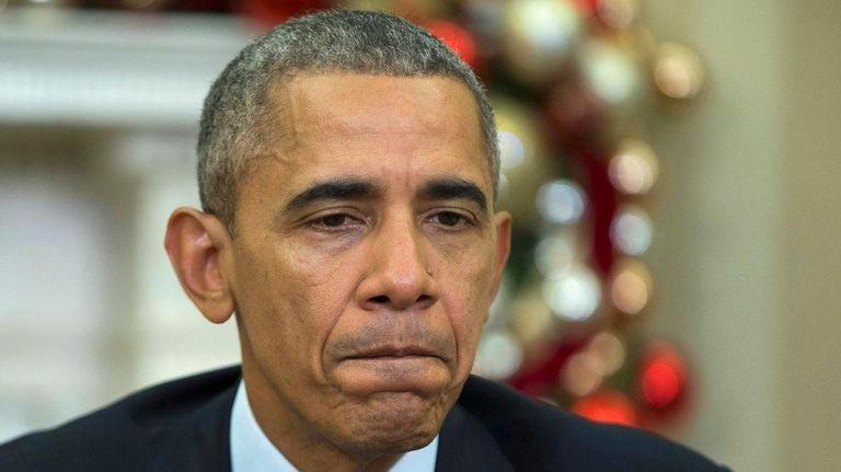 President Barack Obama makes a statement on the