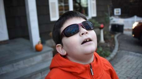 Nicholas Pelc, 9, of Smithtown is red-green color