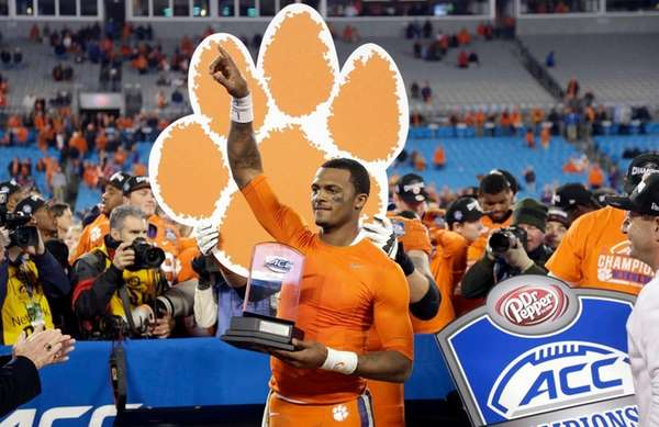 Clemson quarterback Deshaun Watson holds the most valuable