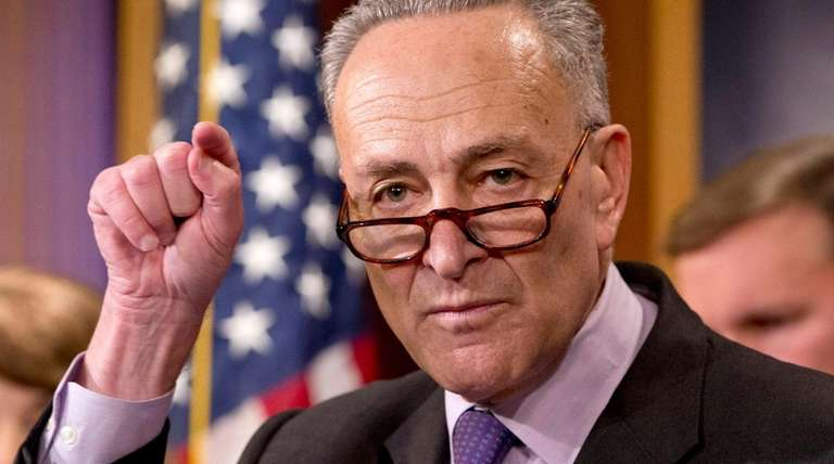 Sen. Charles Schumer (D-N.Y.) speaks Dec. 3, 2015,