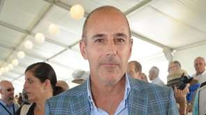 Matt Lauer at The Grand Prix finals of