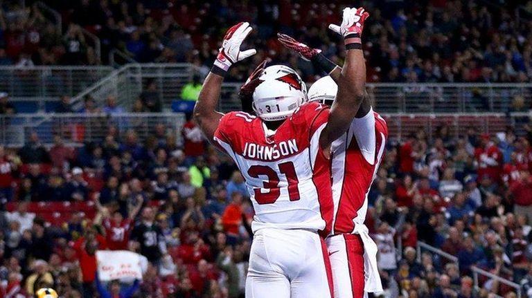 David Johnson of the Arizona Cardinals celebrates with