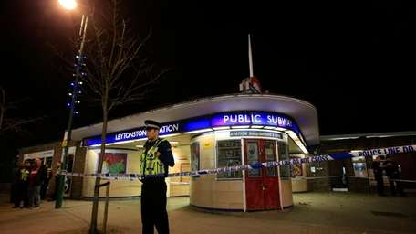 Police cordon off Leytonstone Underground Station in east