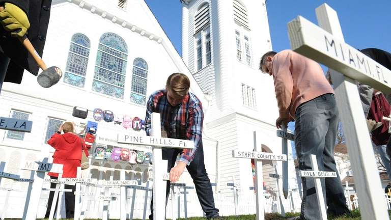 Parishioners at Sayville Congregational United Church of Christ
