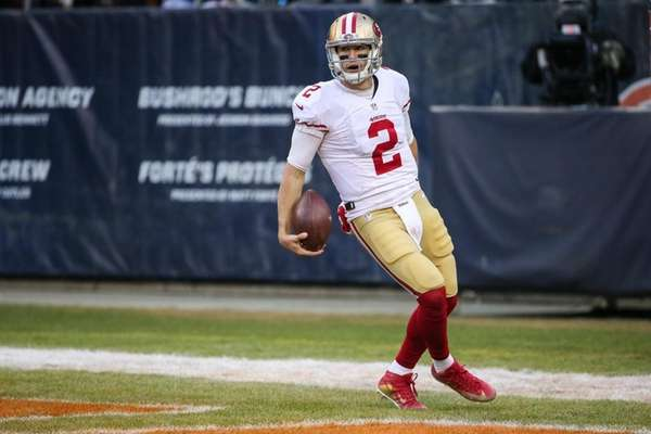 Quarterback Blaine Gabbert #2 of the San Francisco