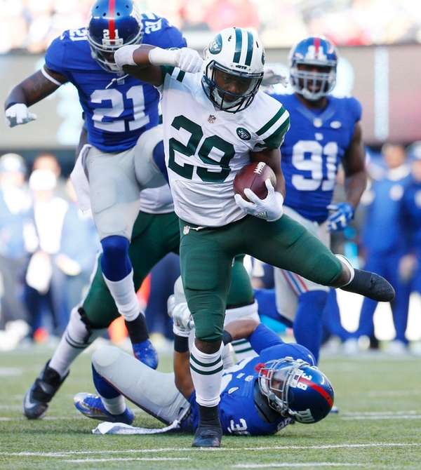 Jets' Bilal Powell, who had a 25-yard touchdown