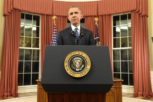 President Barack Obama speaks during an address to