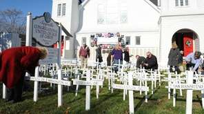 Parishioners at the Sayville Congregational United Church of
