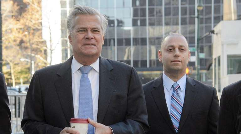 State Sen. Dean Skelos (R-Rockville Centre), left, and