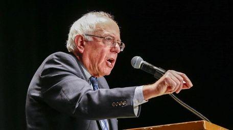 U.S. Democratic presidential candidate Bernie Sanders speaks