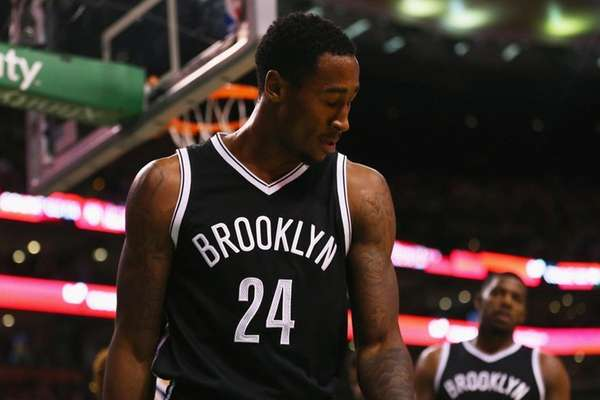 The Brooklyn Nets' Rondae Hollis-Jefferson reacts after a