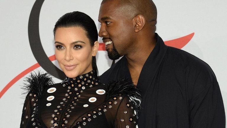 Kim Kardashian, left, and Kanye West have named