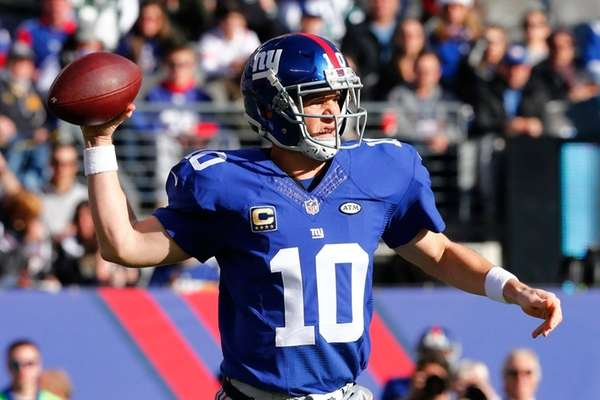 Eli Manning #10 of the New York