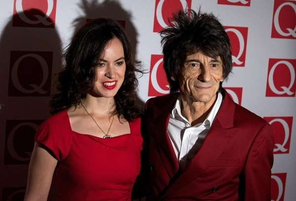 Rolling Stones guitarist Ronnie Wood and his wife,