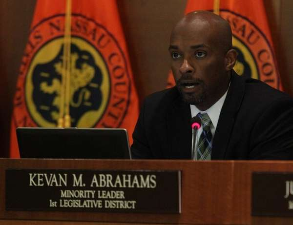 Nassau Legis. Kevan Abrahams discusses the contract process