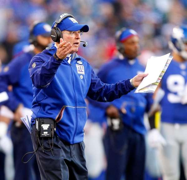 Head coach Tom Coughlin of the New York