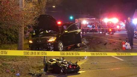 Nassau County police respond to a fatal motorcycle