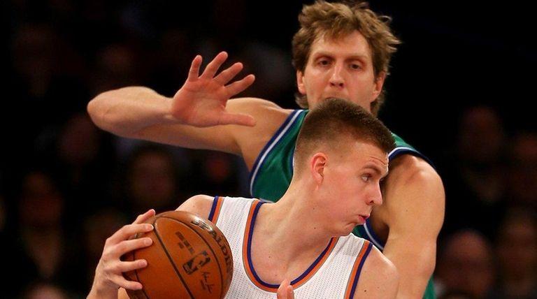 Kristaps Porzingis of the New York Knicks
