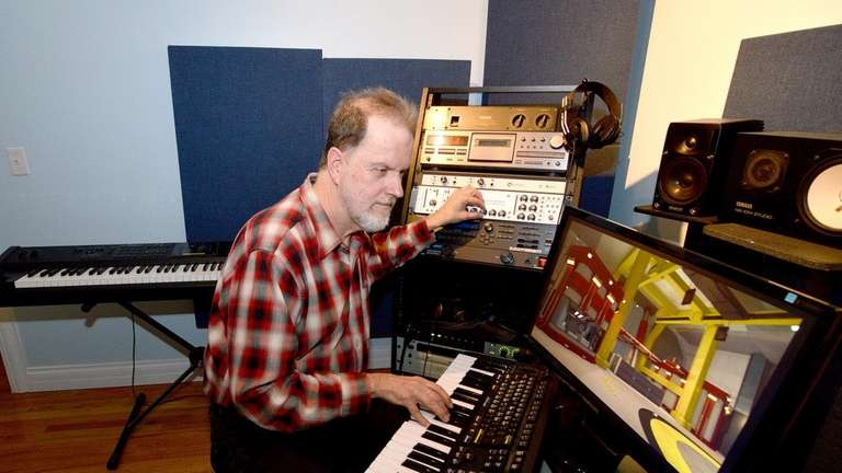 Tom Griffith composes music for a sci-fi video